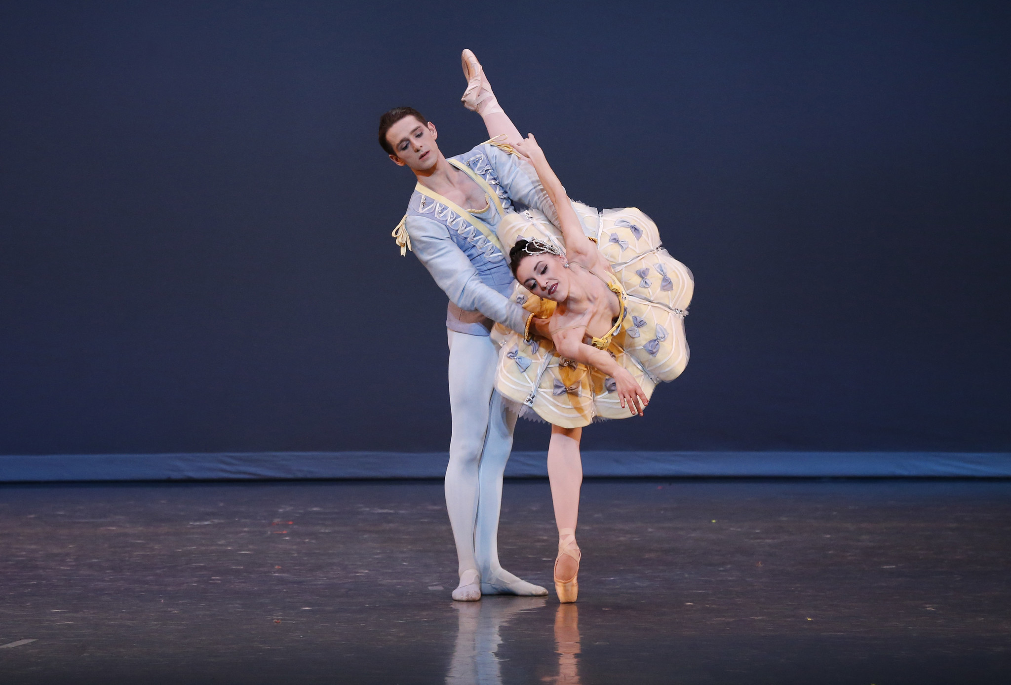 "Dustin True with Laura Chachich in ""Divertimento No. 15."""