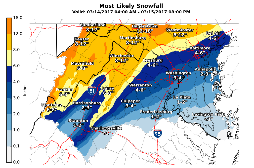 Maryland weather: snow potential for Monday through Tuesday