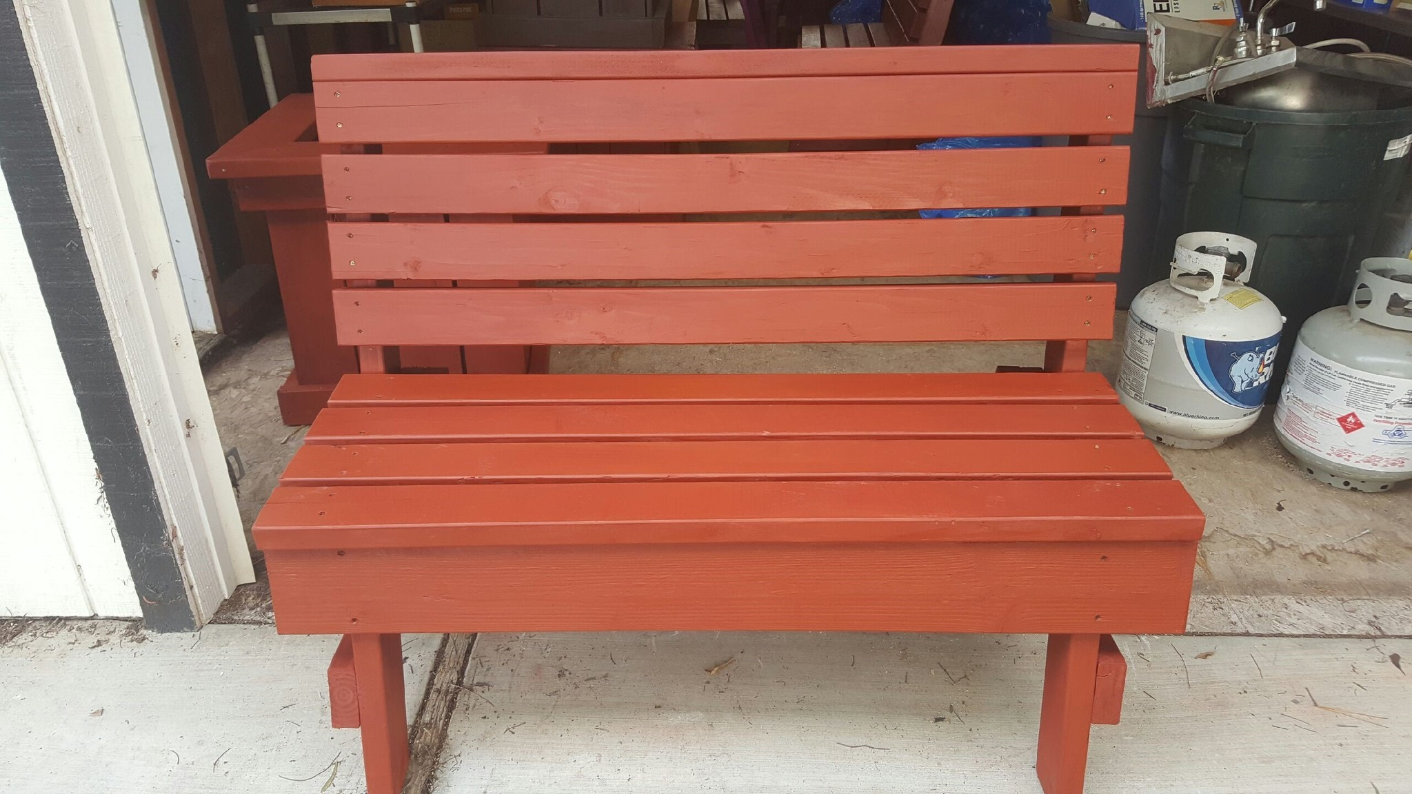 This bench, made by Montecito High School students in teacher Nick Jordan's construction class, is among silent auction items at Ramona Music Fest.