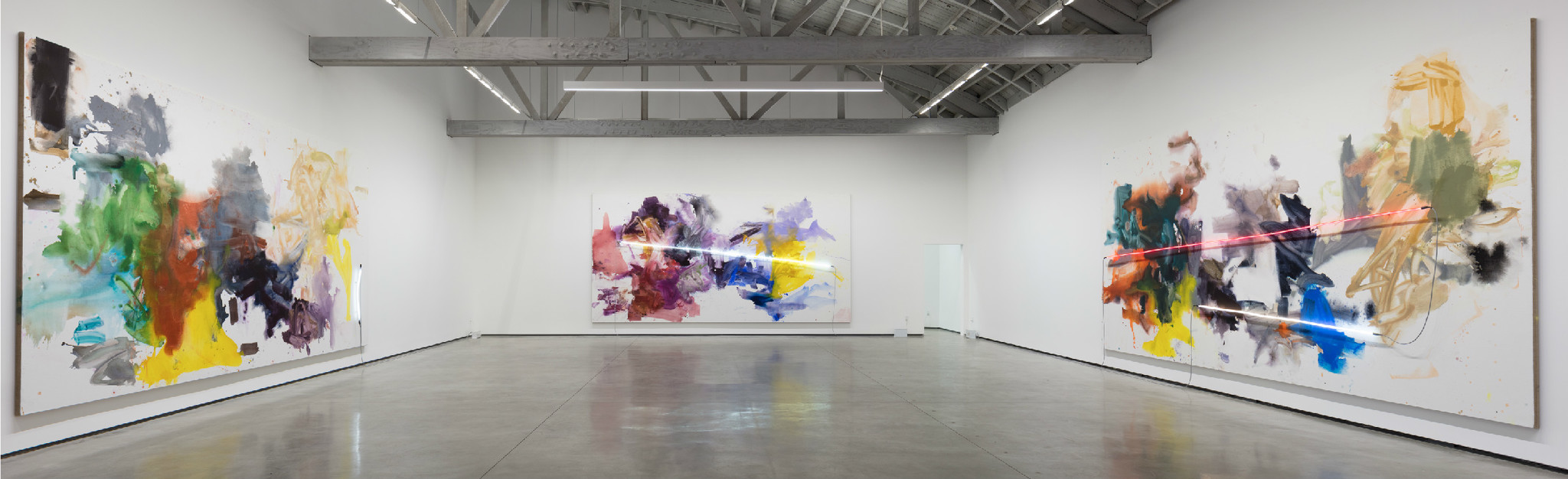 Mary Weatherford's new murals are the largest paintings she has made.