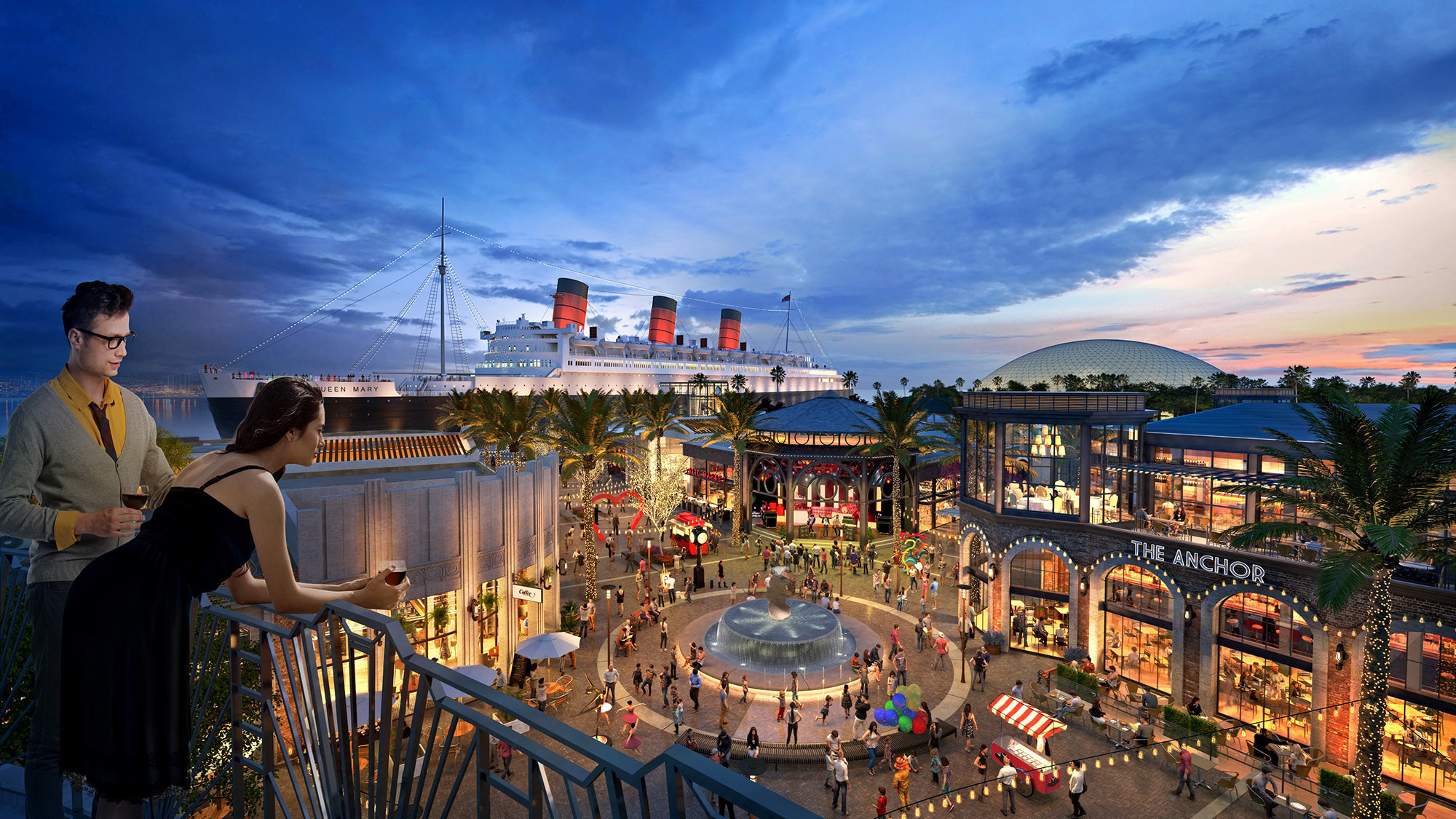 Plans Revealed For $250-million Queen Mary Island Complex