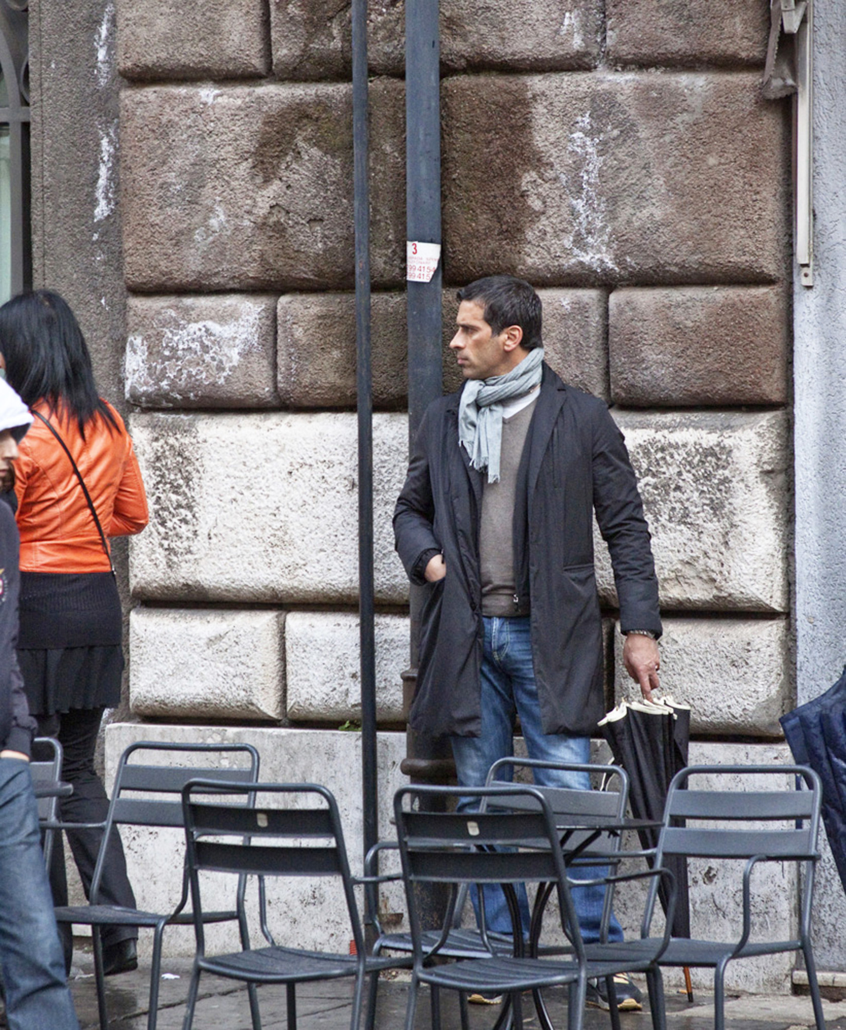 A photo taken by Dana Levine of a man in Rome.