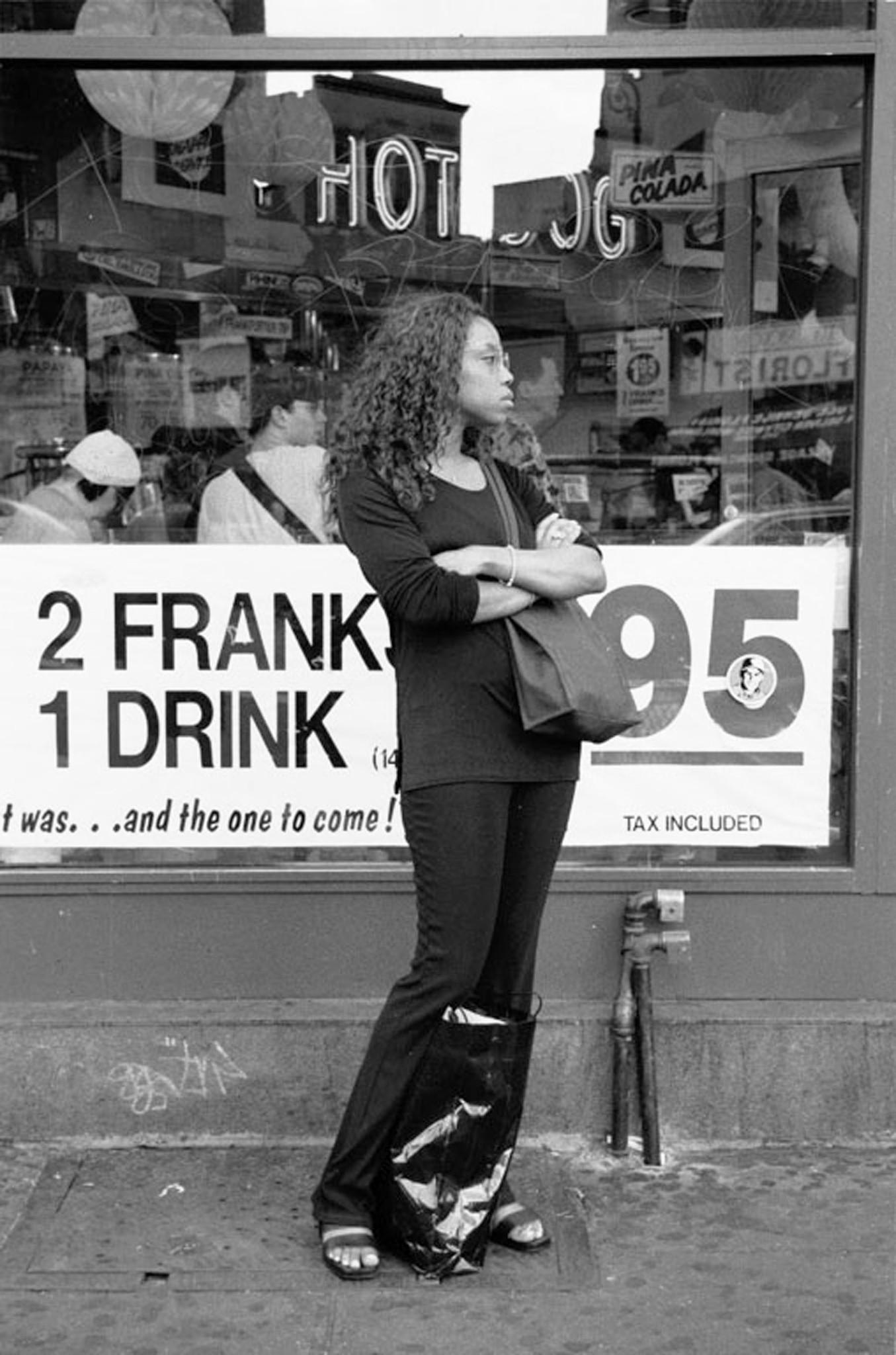 A photo taken by Arthur Lavine in 1999 of a woman in Greenwich Village, New York City.