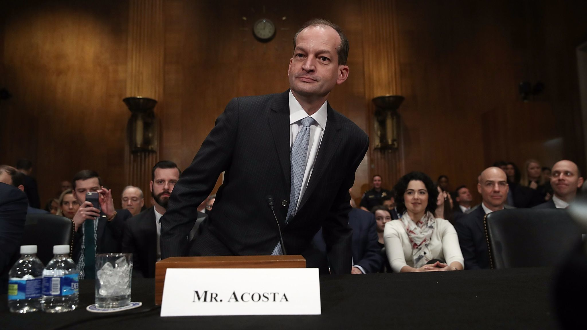 Trump Labor nominee Acosta frustrates Democrats by dodging ...