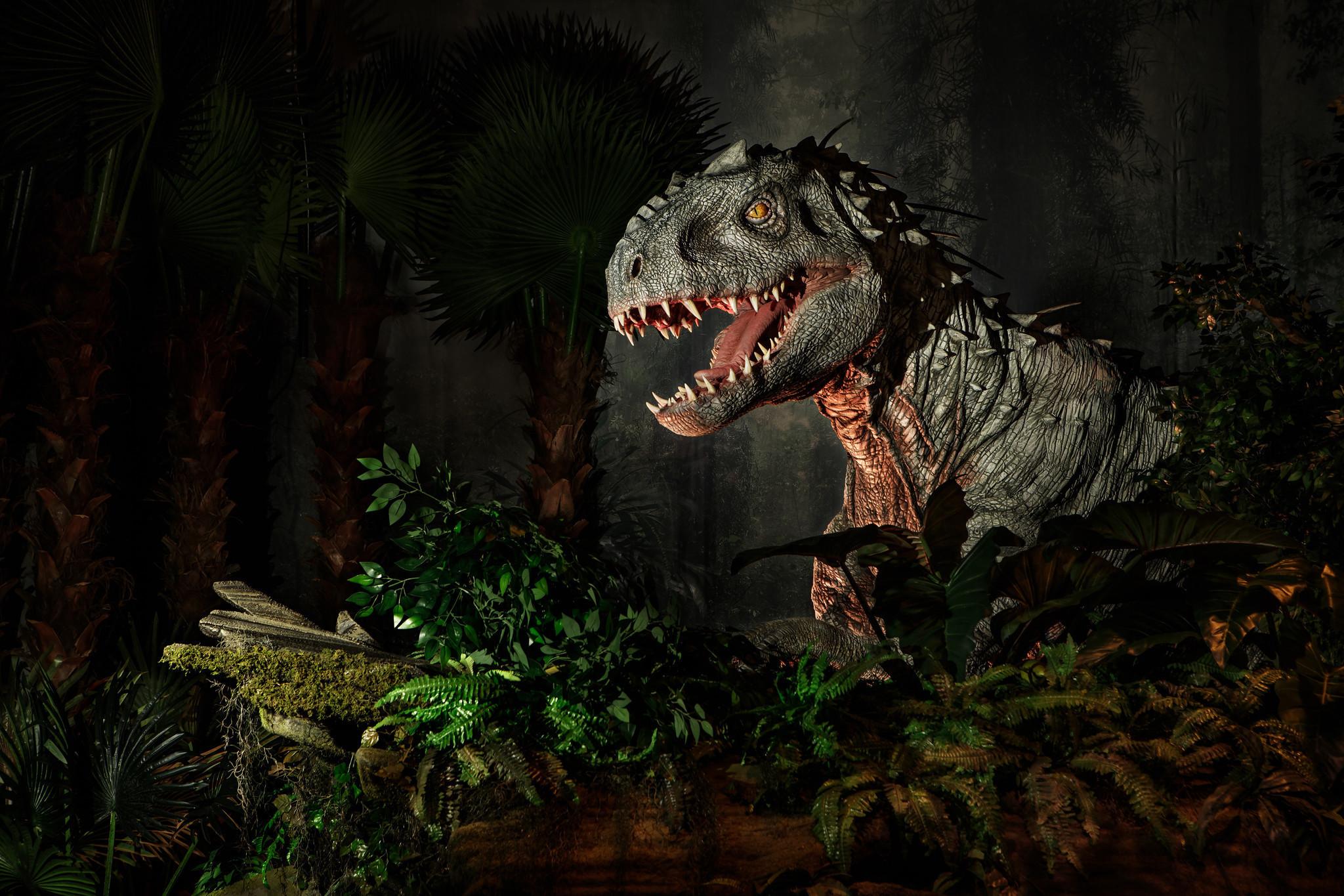blockbuster jurassic world exhibition will bring dinosaur park to