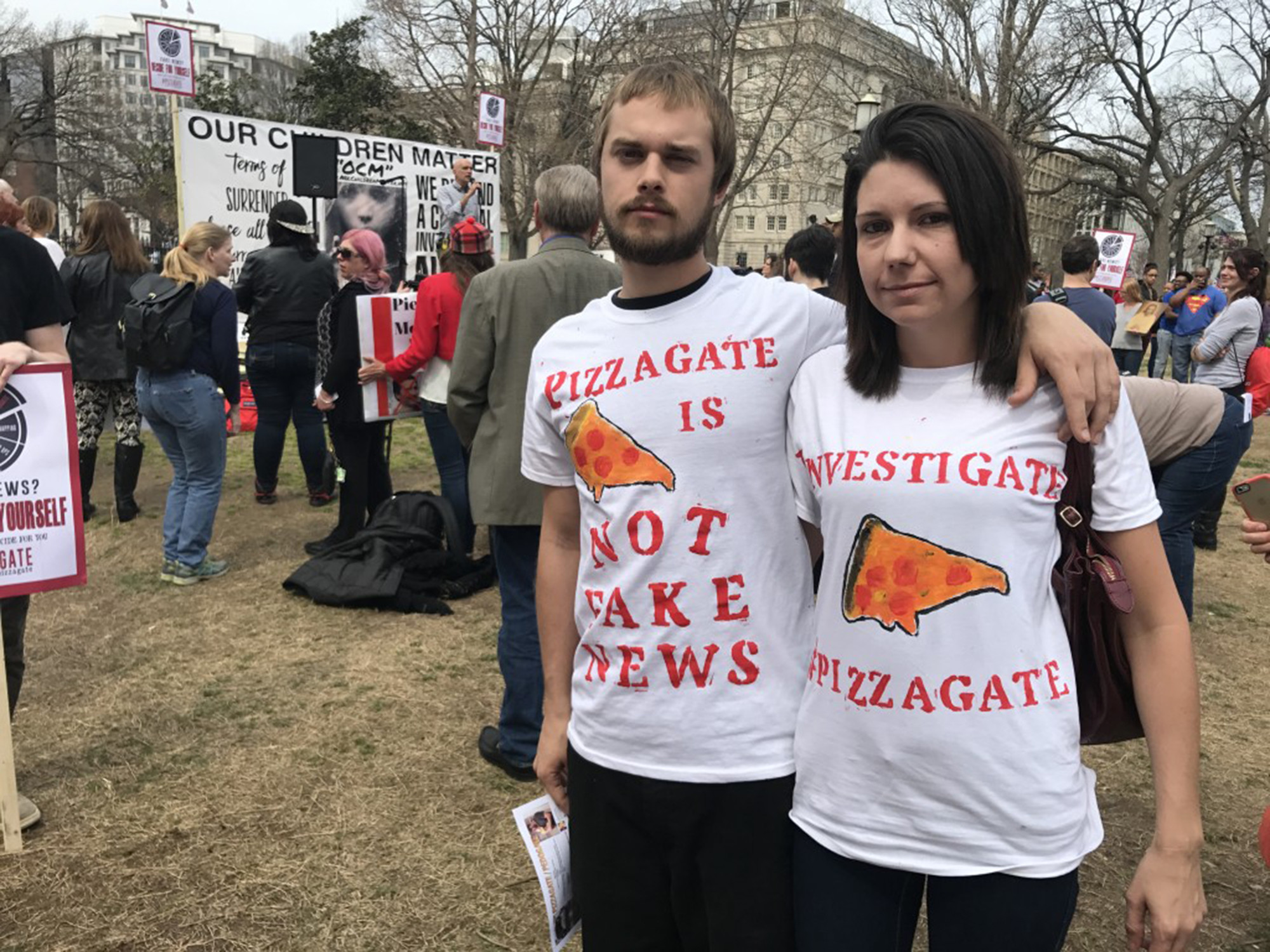 Protesters Outside White House Demand Investigation Of