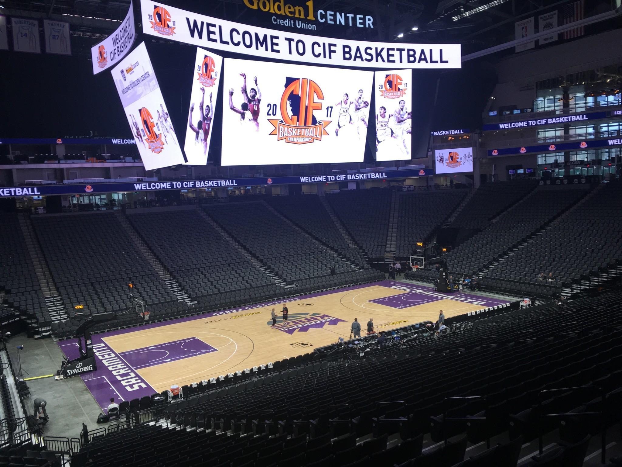 Inside the Golden 1 Center in Sacramento