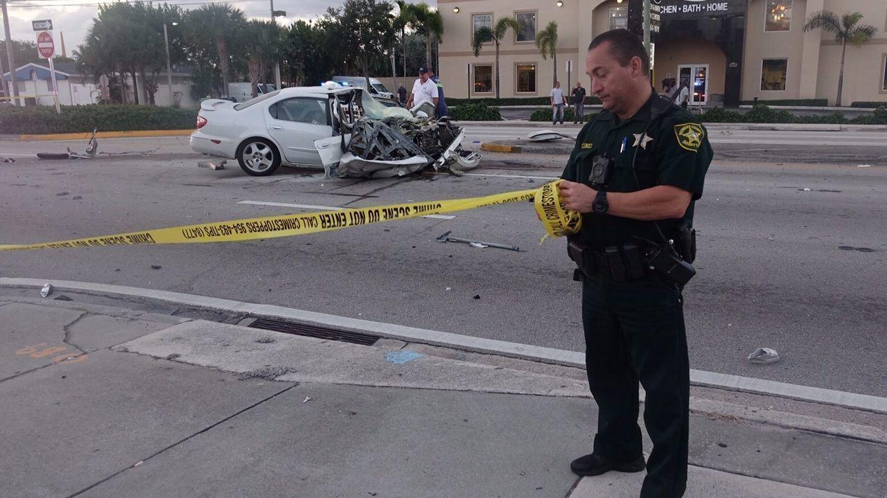 crash traps woman on oakland park boulevard - sun sentinel