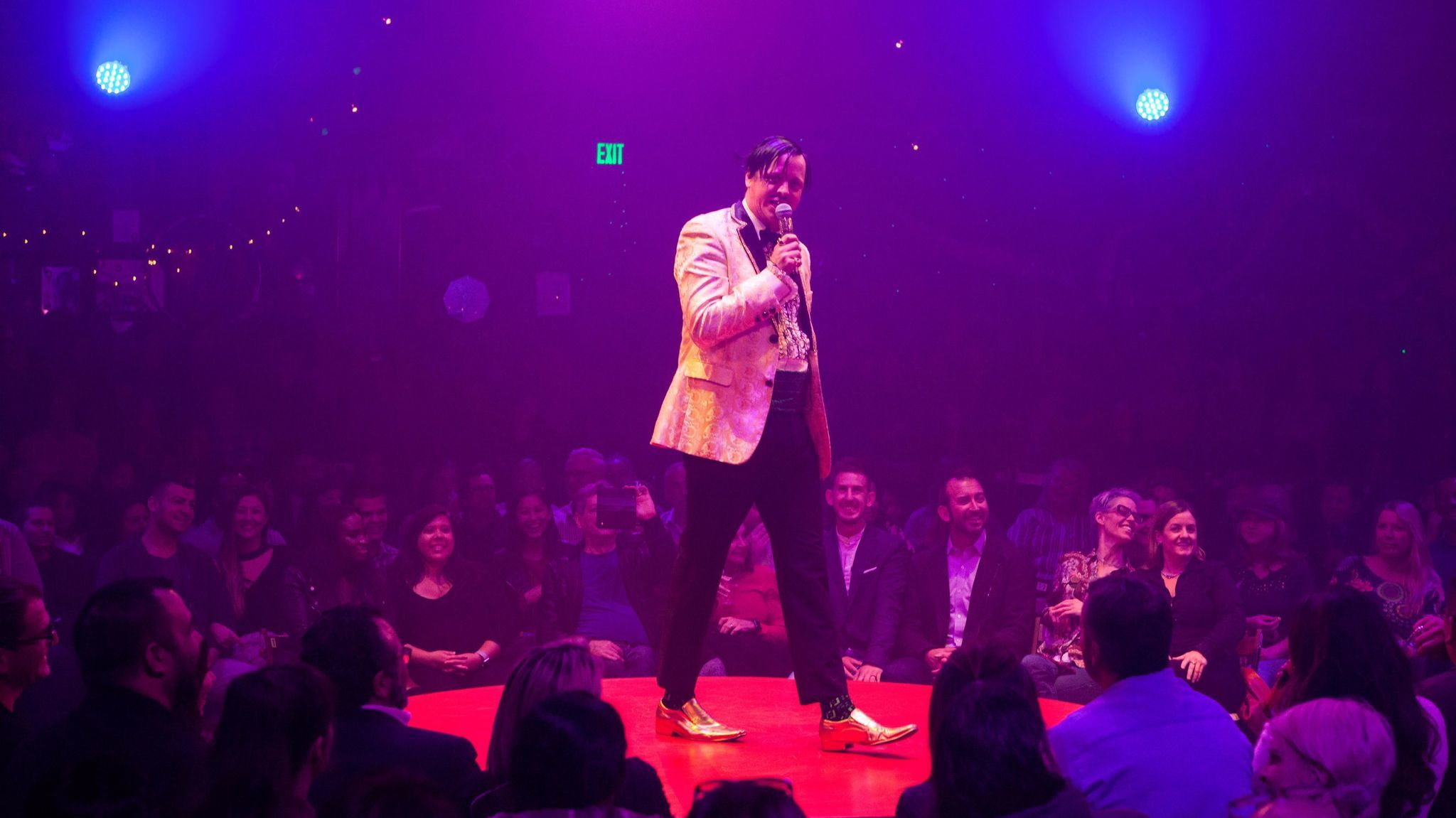 """The Gazillionaire of the touring """"Absinthe"""" now at L.A. Live."""