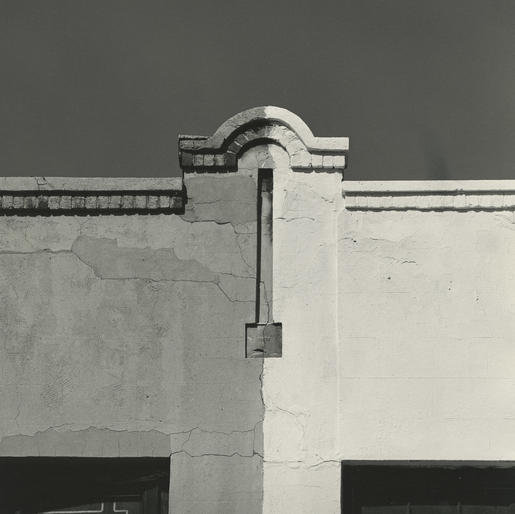 An architectural detail captured by photographer Mark Feldstein in the 1970s, part of an exhibition at Louis Stern Fine Arts in West Hollywood.