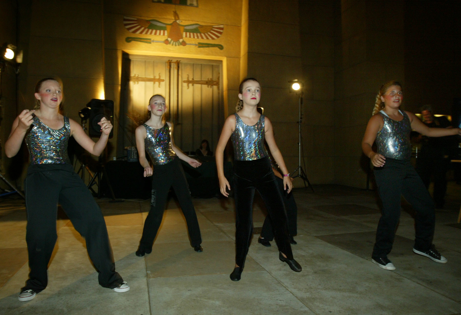 Girls in the dance group