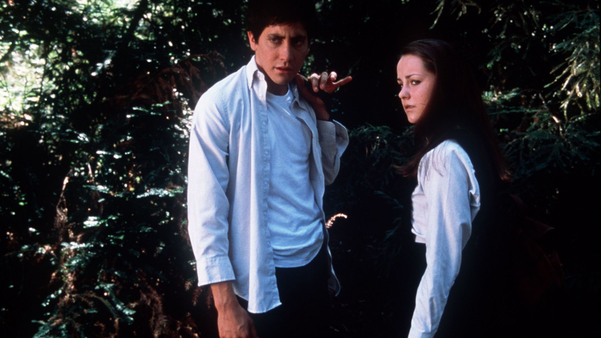 "Jake Gyllenhaal and Jena Malone in ""Donnie Darko."""