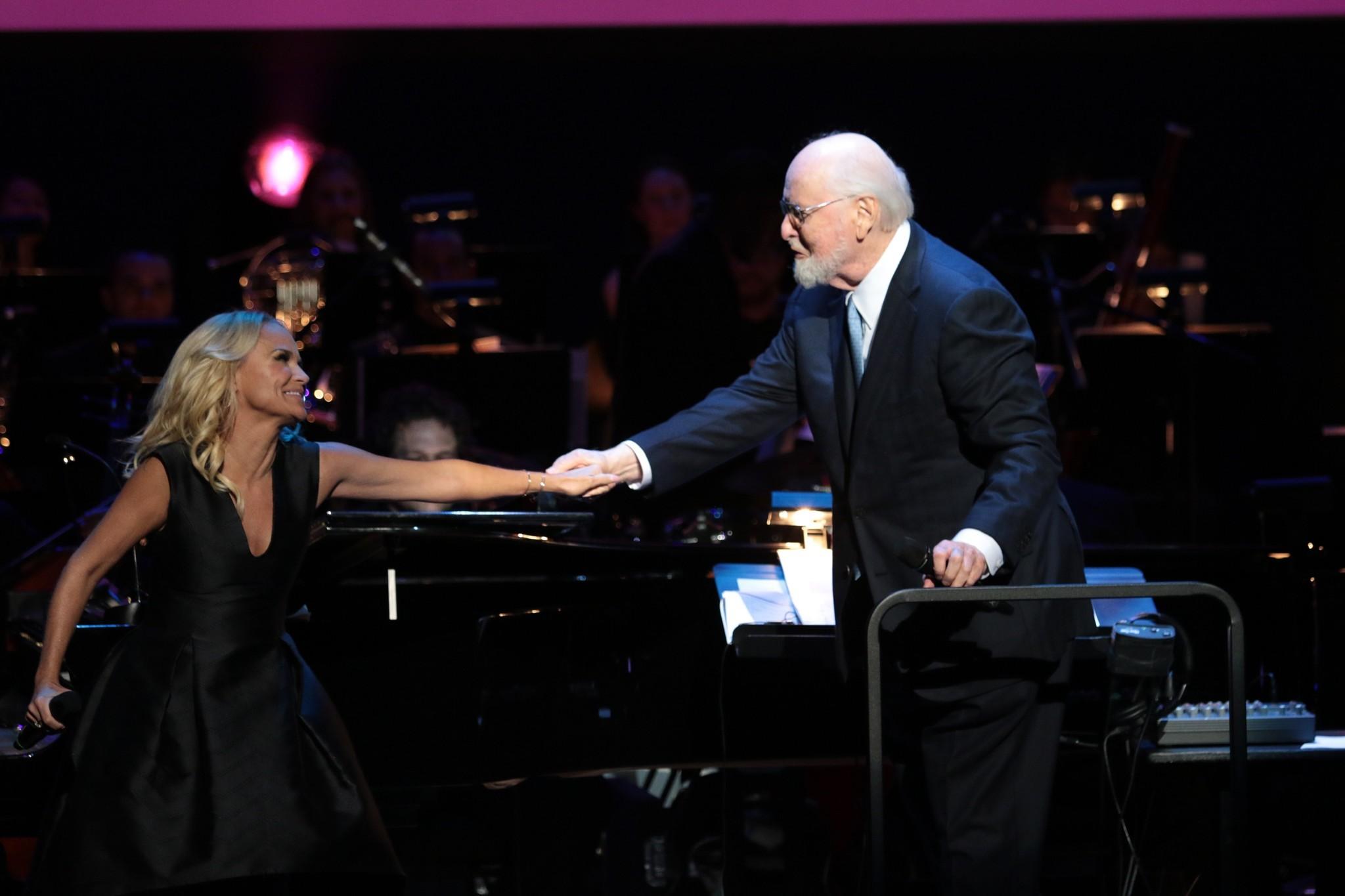 Kristin Chenoweth with John Williams.