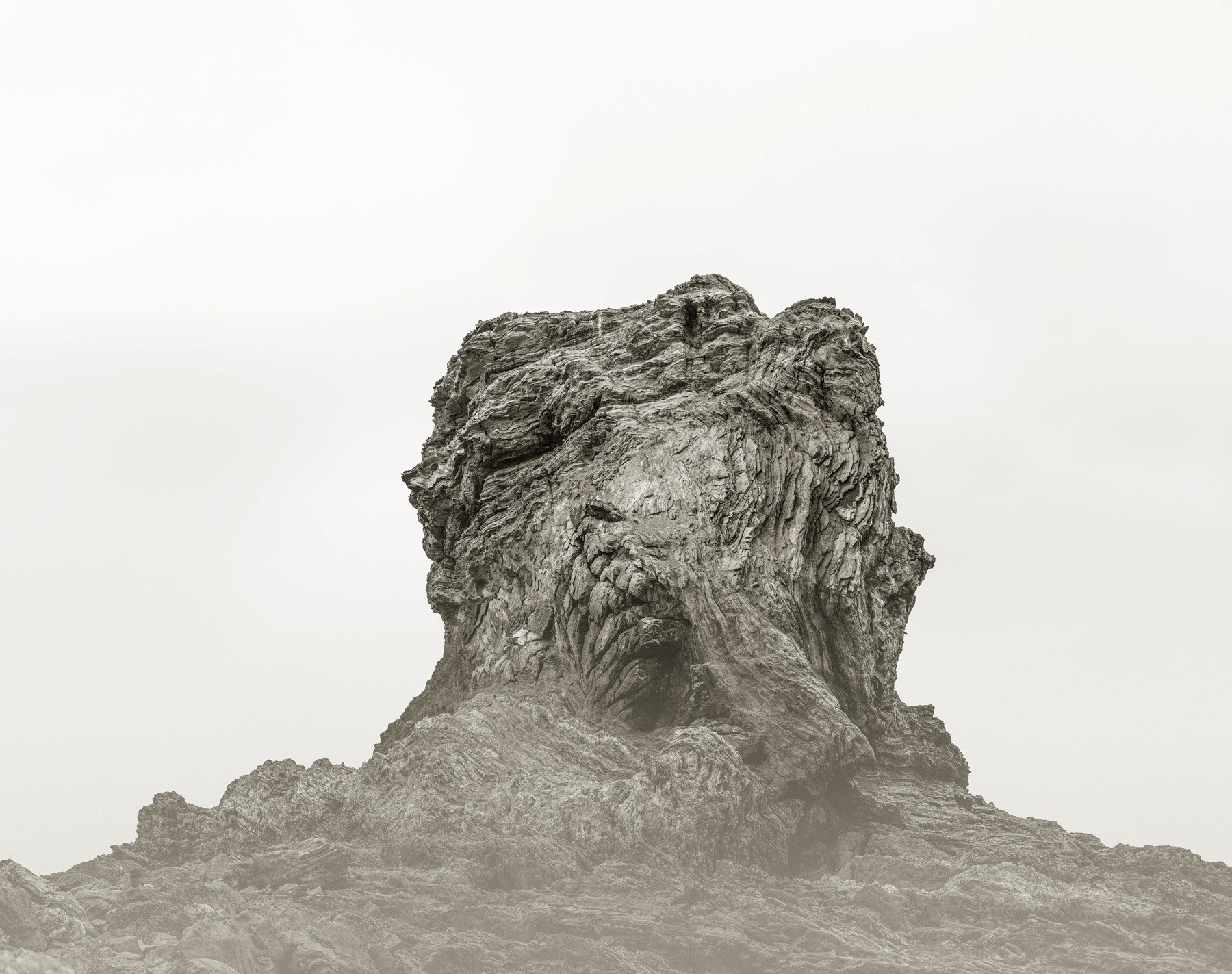 """""""Rock 6, """" 2016, framed ultrachrome archival pigment photograph with UV coating, 39 inches by 49 inches."""