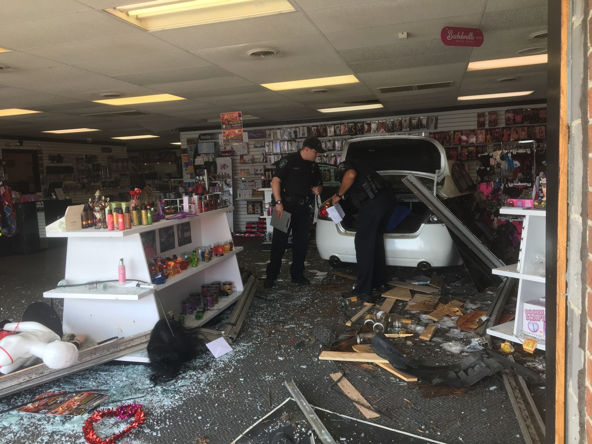 official: 80-year-old man crashes car into love shack in newport