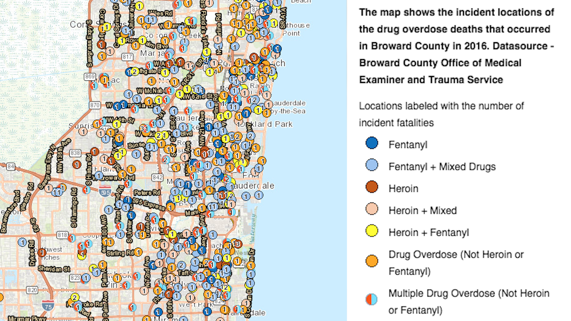 See where people have died from drug overdoses in Broward - Sun Sentinel
