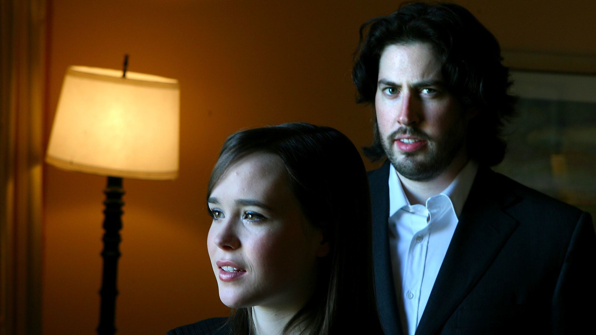 Ellen Page and Jason Reitman on the press tour for 2007's