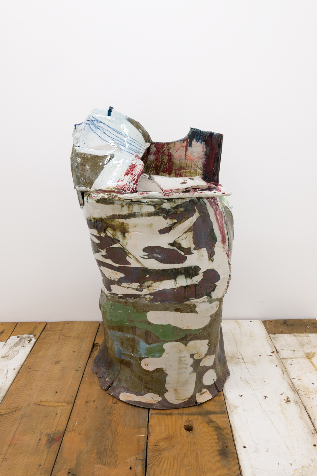 """Jennie Jieun Lee's """"Adeline Boone"""" (2017), glazed stoneware and porcelain, 36 inches by 22 inches by 13 inches"""