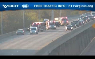 VDOT: Traffic moving after crash on I-64W in Hampton - Daily