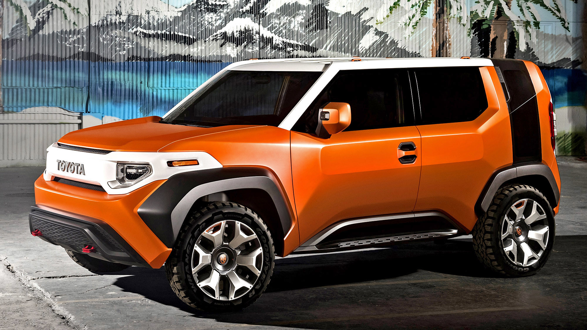new york international auto show toyota returns to fj cruiser territory with the ft 4x la times. Black Bedroom Furniture Sets. Home Design Ideas