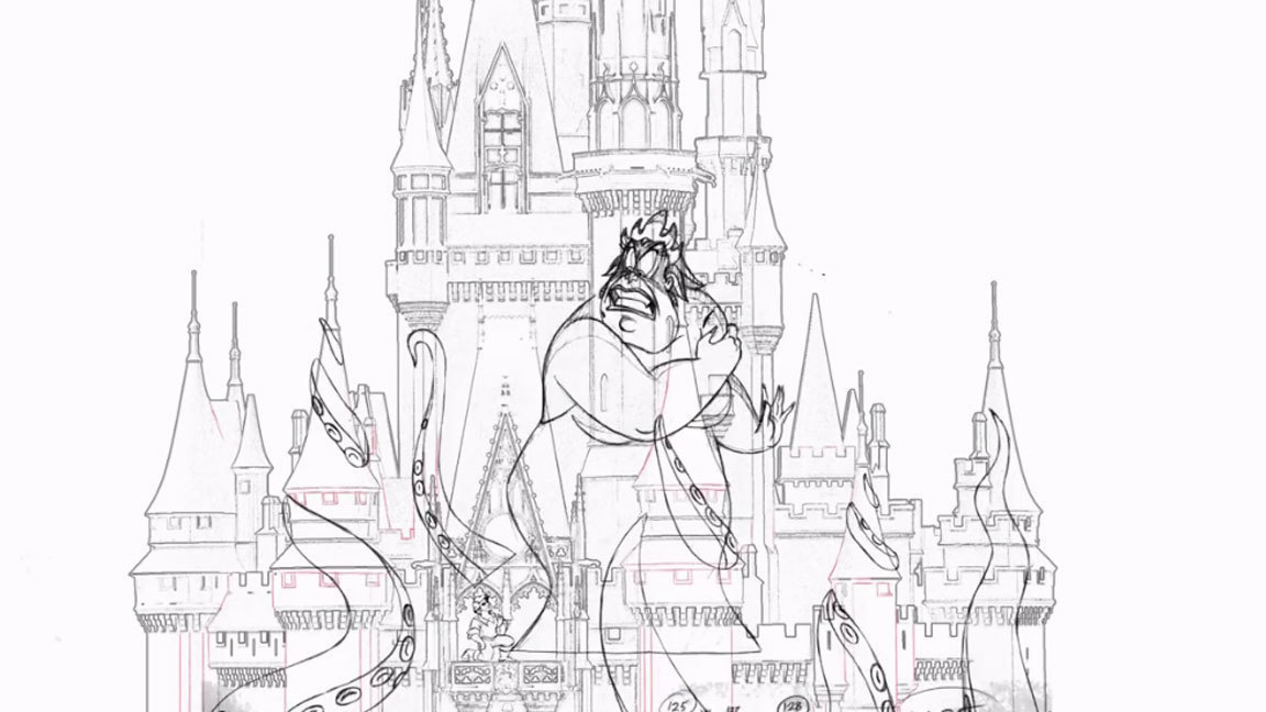 new disney animation part of magic kingdom happily ever after