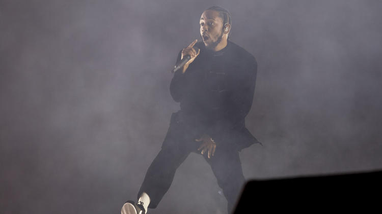 Kendrick Lamar at Coachella.