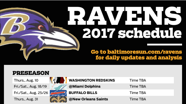photo about Buffalo Bills Printable Schedule identified as Ravens Downloadable 2017 Program - Baltimore Solar