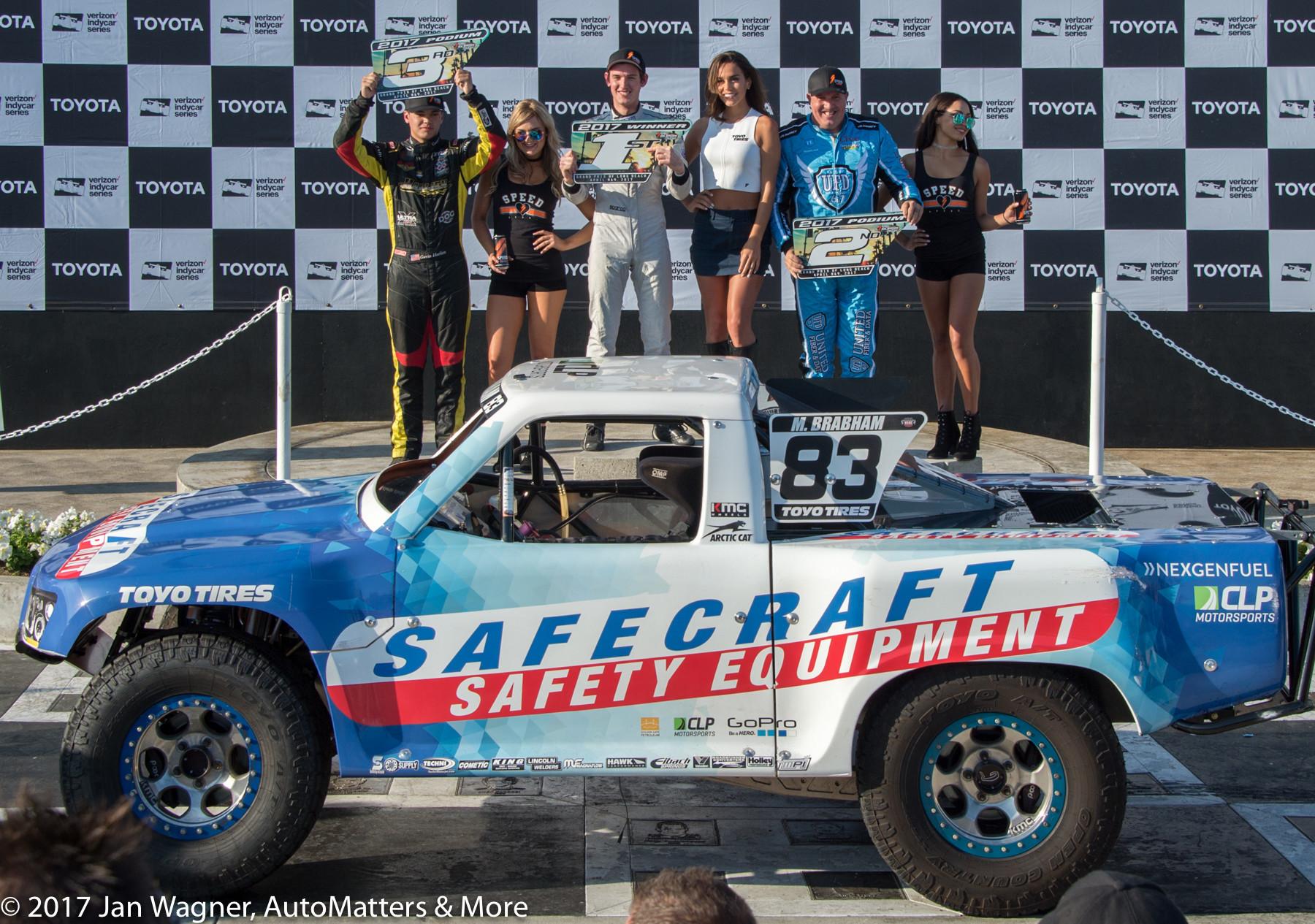 Matthew Brabham celebrates his victory