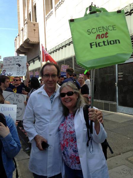 Mark Schweikart and wifeMaddy St. Michael. (Deborah Netburn / Los Angeles Times)