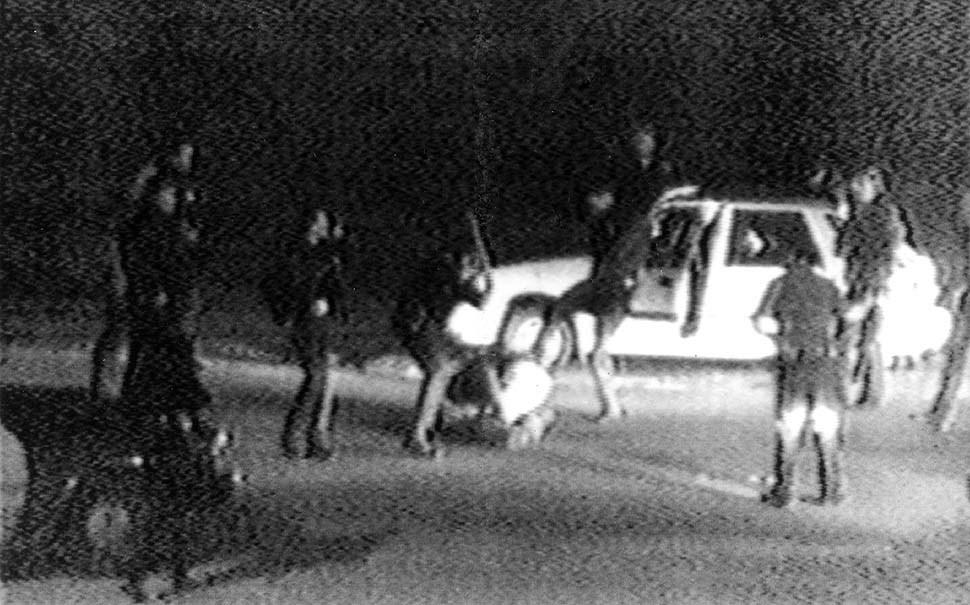 This March 3, 1991, image taken from video shows the Rodney King beating. (AP Photo/Courtesy of KTLA Los Angeles)