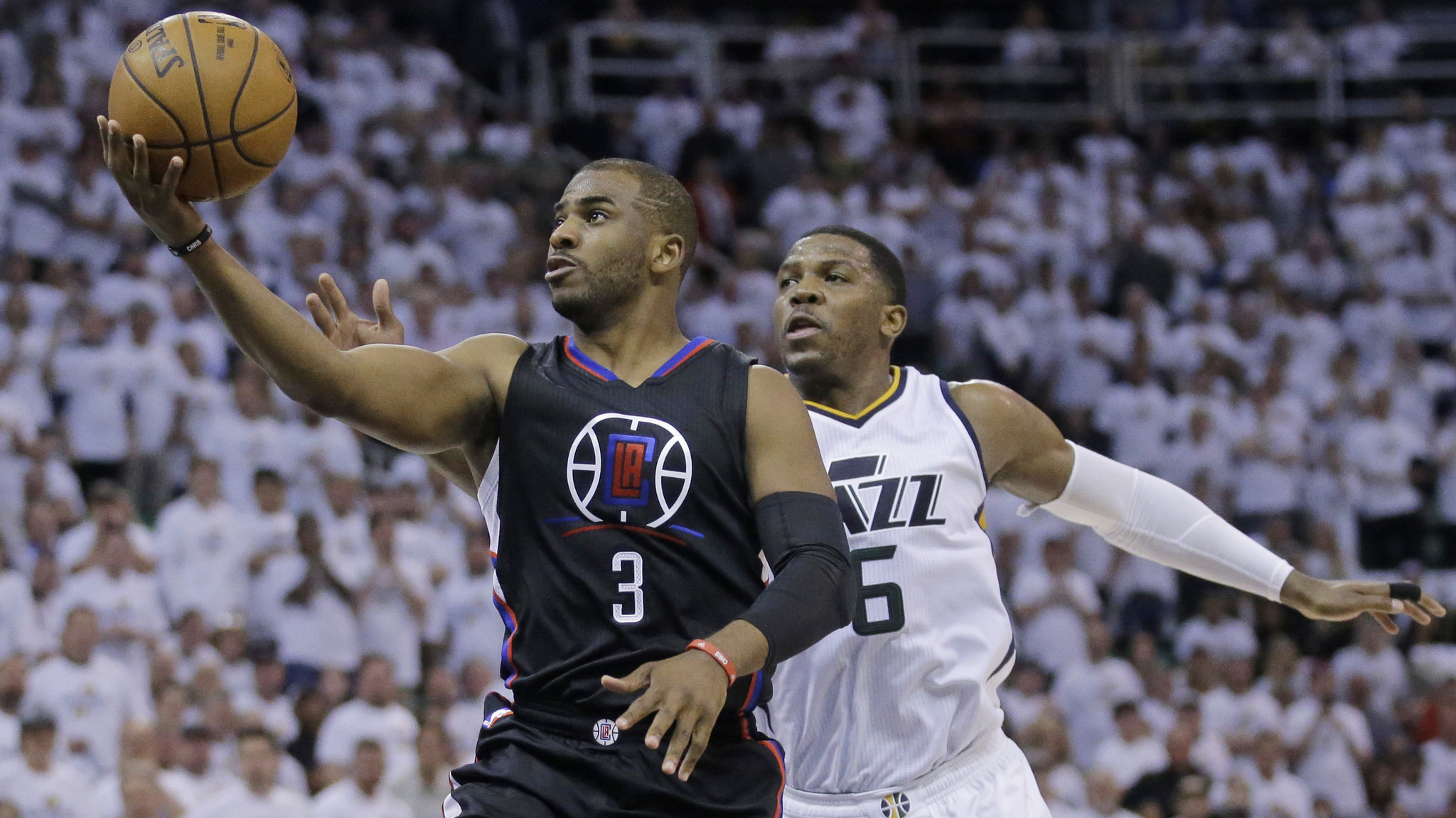 Here are takeaways from the Clippers   105-98 loss to the Utah Jazz in  their first-round NBA playoff series. Series is tied d8bc7dbc9