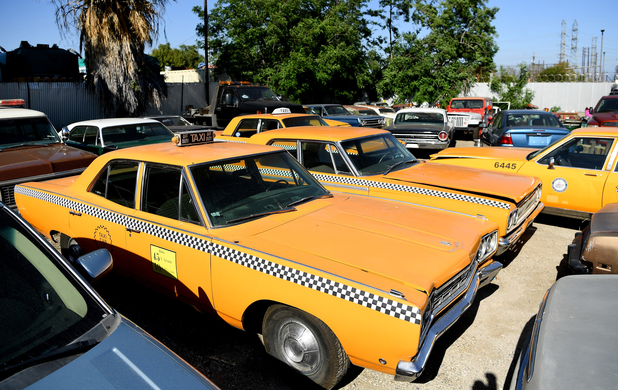 """Picture Car Warehouse owns several 1960s taxi cabs that appeared on the television show """"Mad Men."""" They won't be included in the auction."""