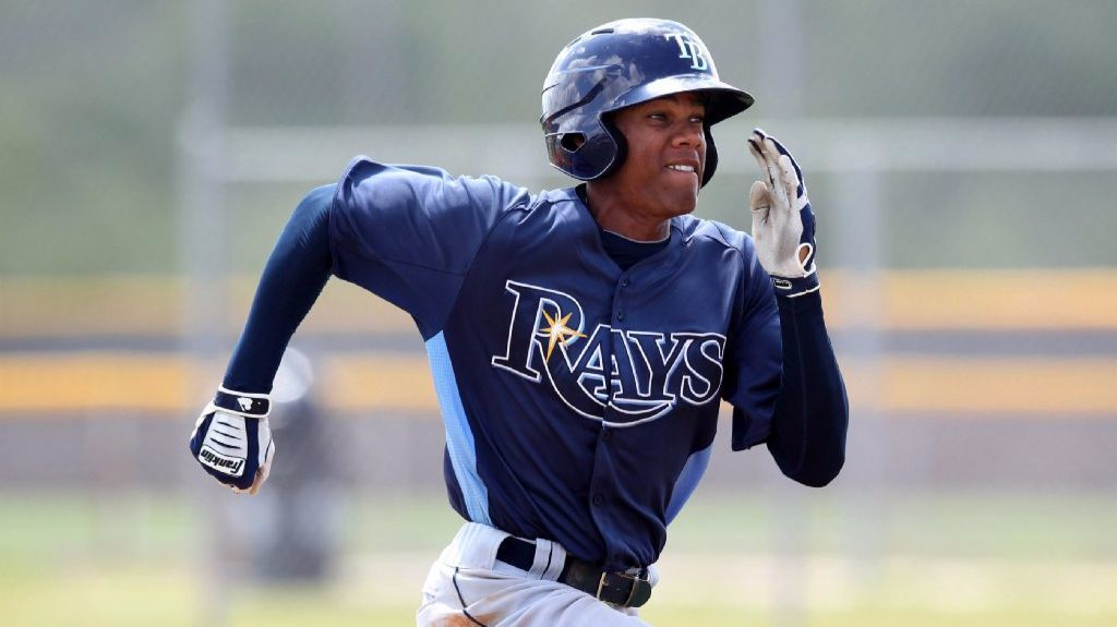 Brandon Martin runs the bases during an extended spring training game with the Tampa Bay Rays organization in 2012.