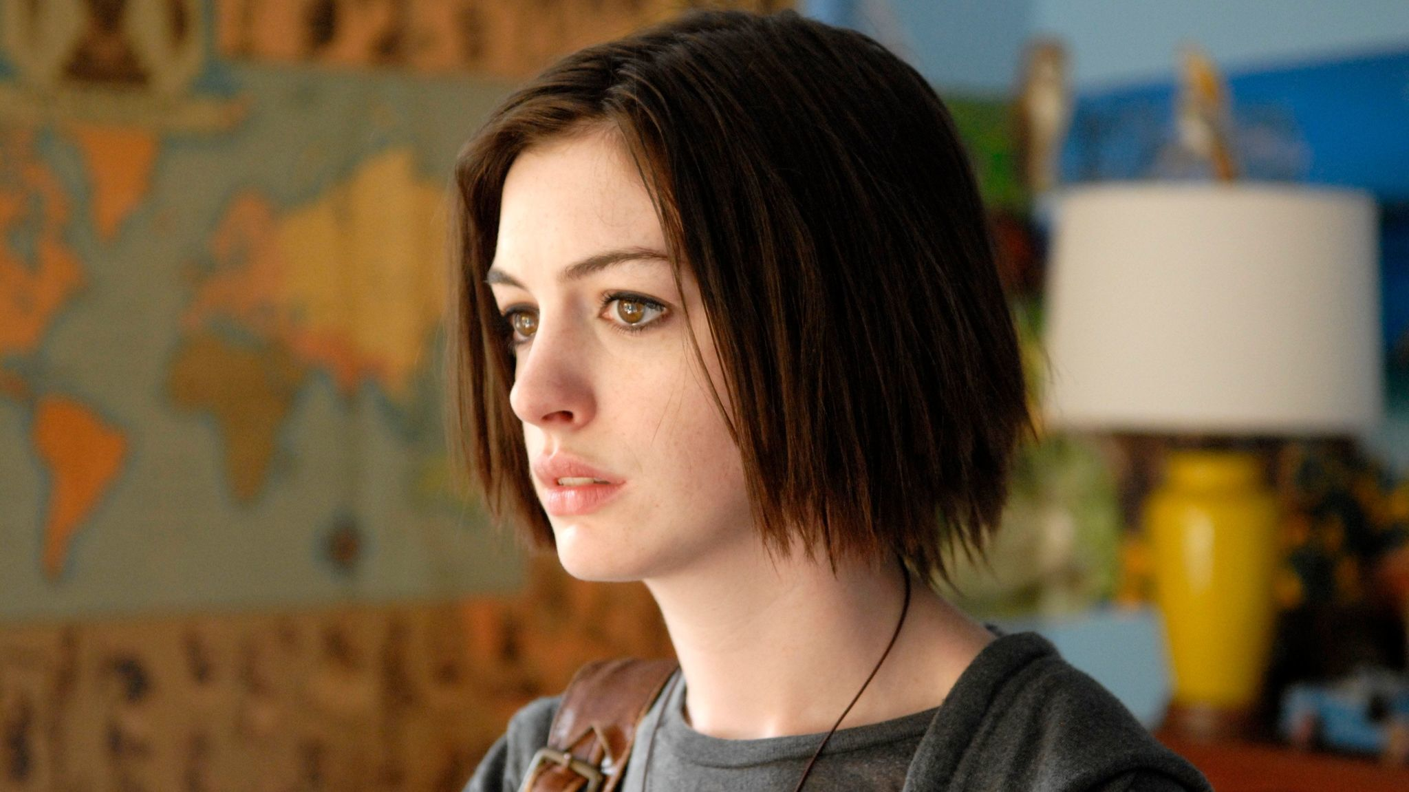 "Anne Hathaway in ""Rachel Getting Married,"" a role that earned her an Oscar nomination."