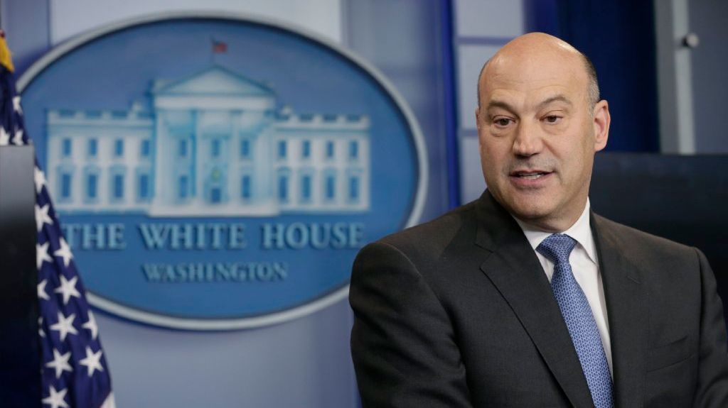 U.S. National Economic Director Cohn participates in unveiling of Trump administration's tax reform proposal at the White House in Washington.