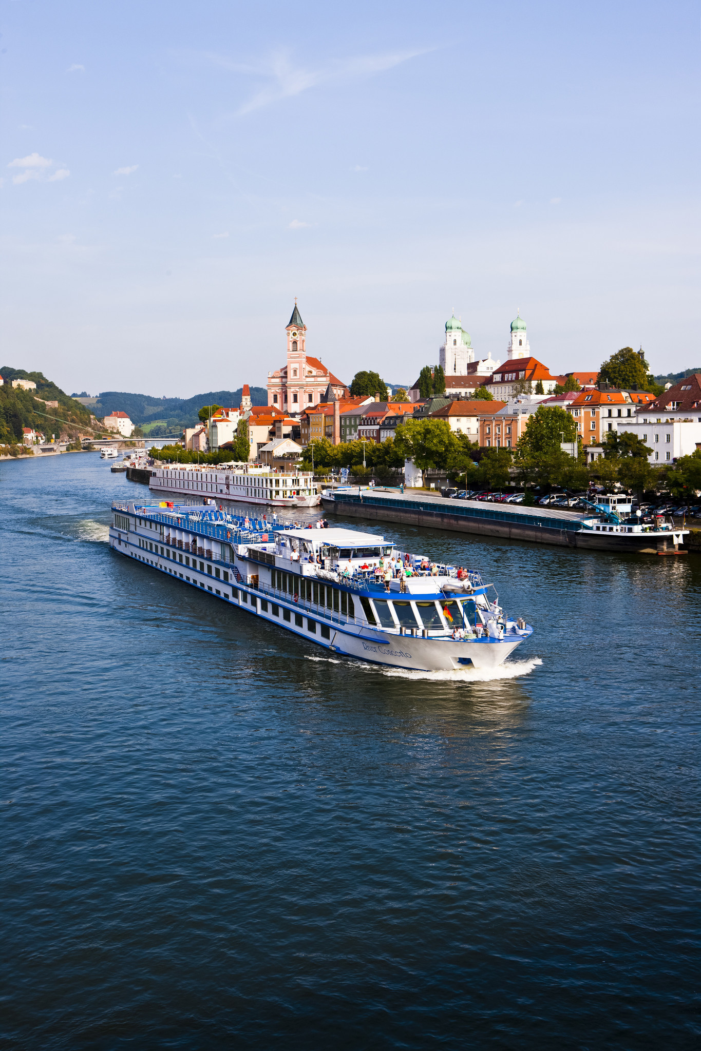 A Danube River cruise takes in the sights of Passau, Germany.