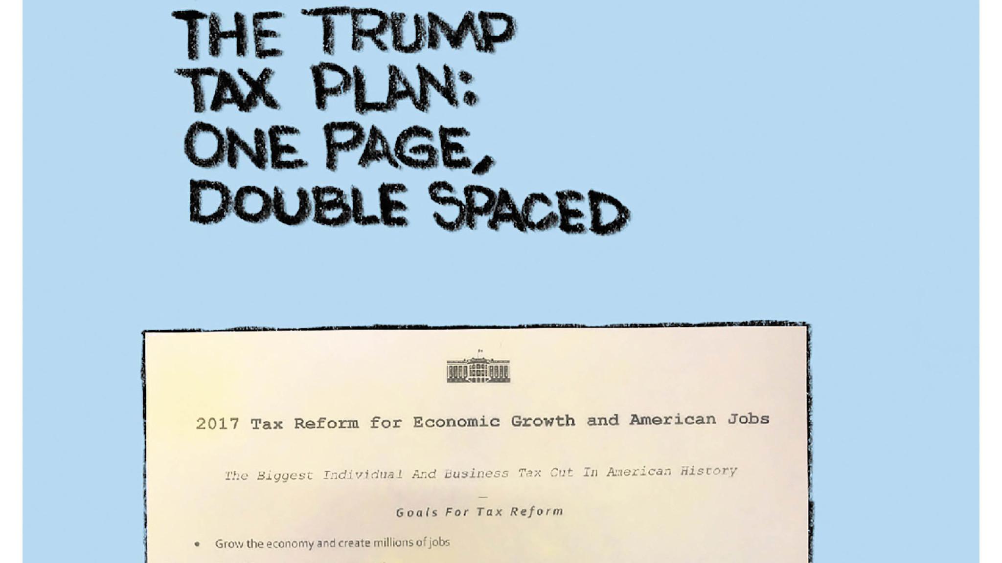 The Trump Tax Plan Chicago Tribune