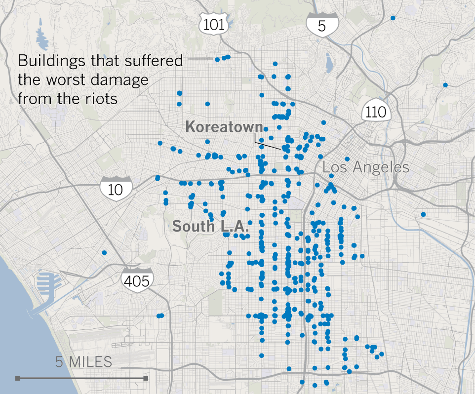 L A Riots By The Numbers Los Angeles Times