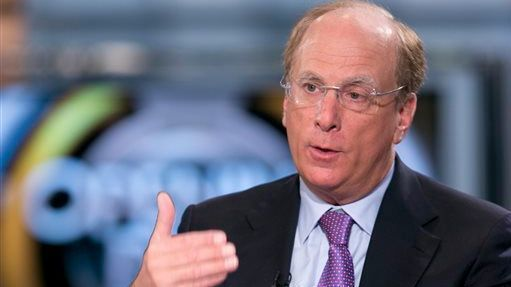 Larry Fink, chief executive of money management giant BlackRock Inc., shown in 2014, thinks businesses need to think more about how they're going to grow and compete.