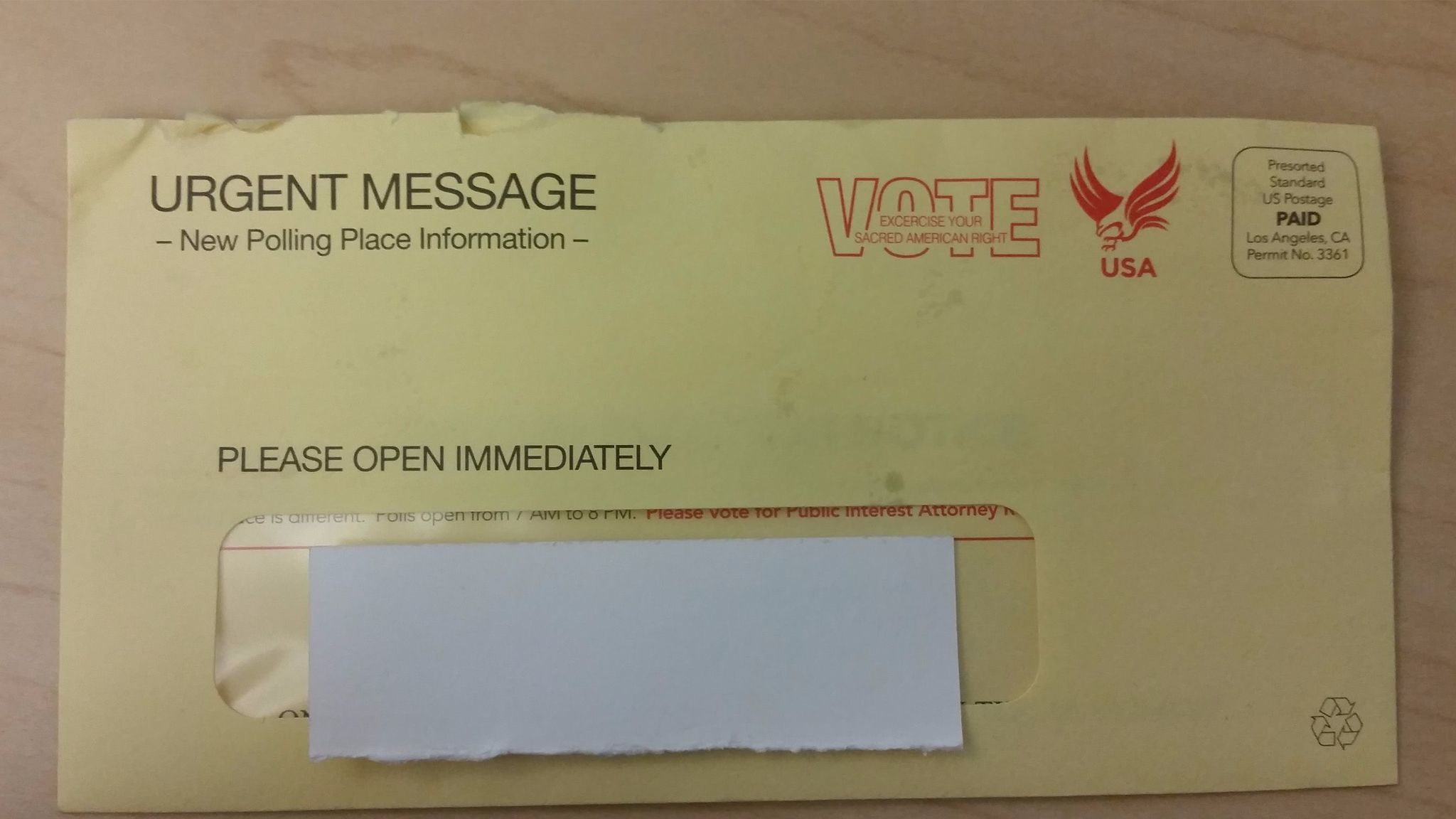 The outer envelope of a mailer sent by Robert Lee Ahn.