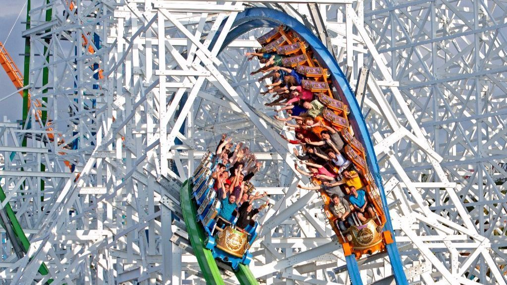 The Twisted Colossus at Six Flags Magic Mountain