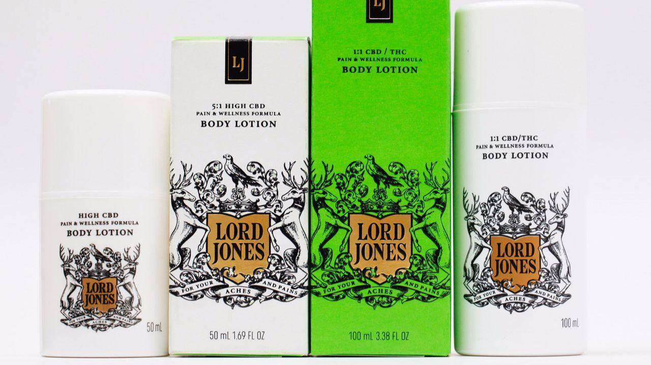 CBD/THC lotions from Lord Jones