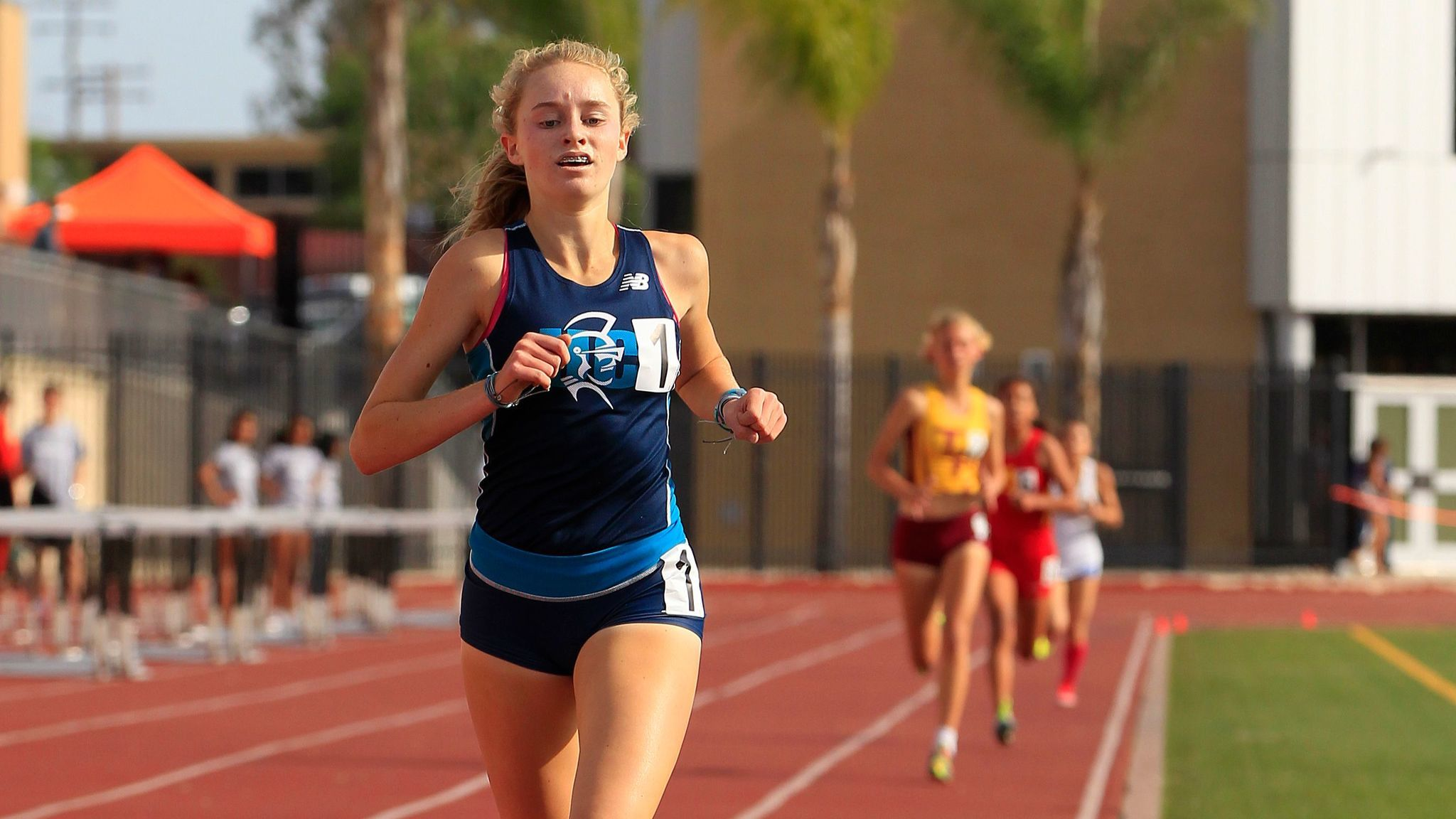 Elise Boisvert of University City won the girls 1,600 meters in 5:04.42, just off her lifetime best of 5:03.72.
