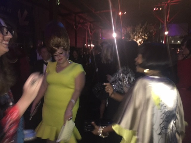 Artists Genevieve Gaignard and Karon Davis, co-founder of the Underground Museum, on the dance floor