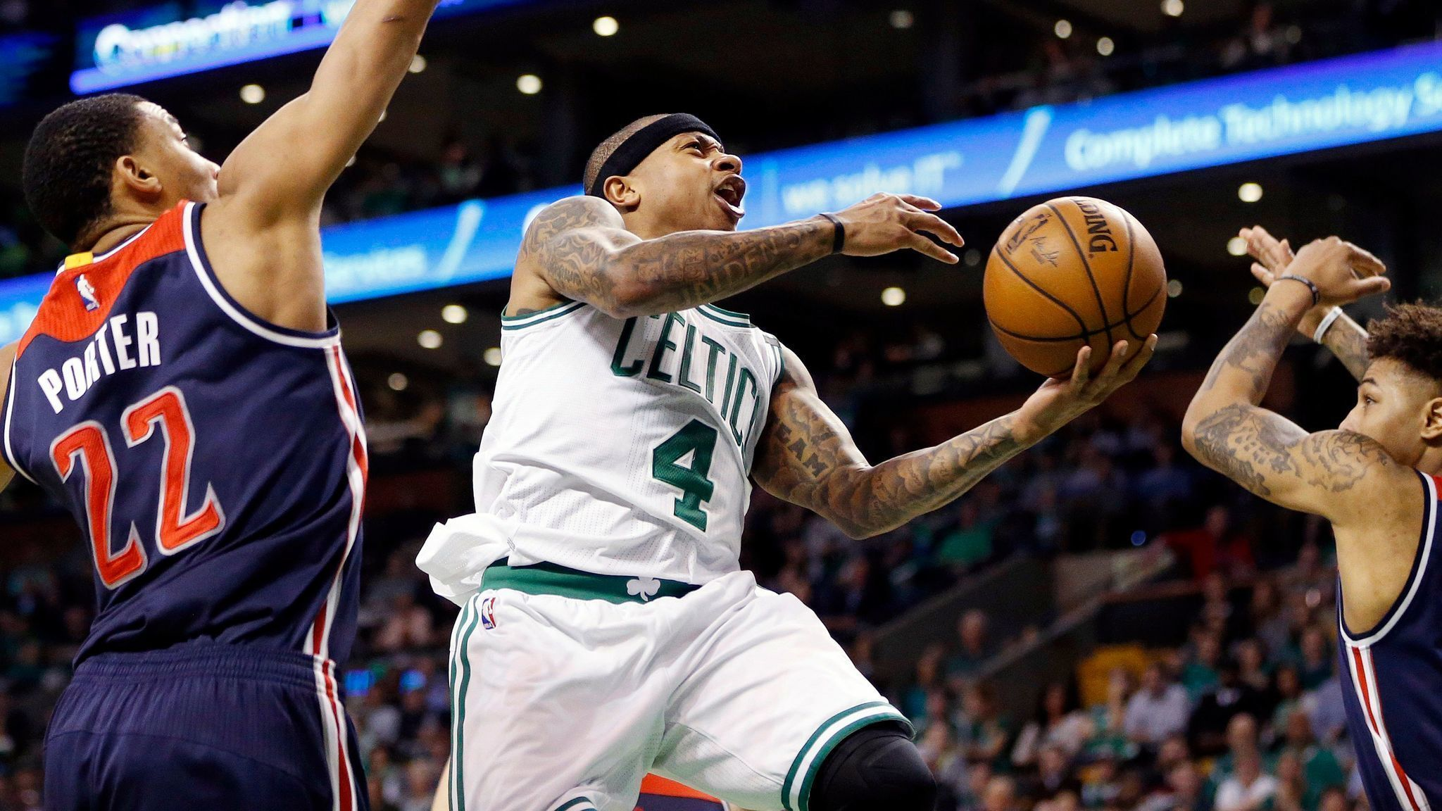 27c9b29b811 pressherald.com Isaiah Thomas leads Celtics to series-opening win over  Wizards a day after attending sister s funeral