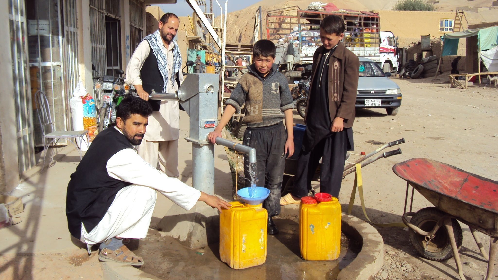 This 2012 photo shows hand pump mechanics who have been trained through USAID's Afghan Sustainable Water Supply and Sanitation Project. They are paid by community contributions for the maintenance of wells.