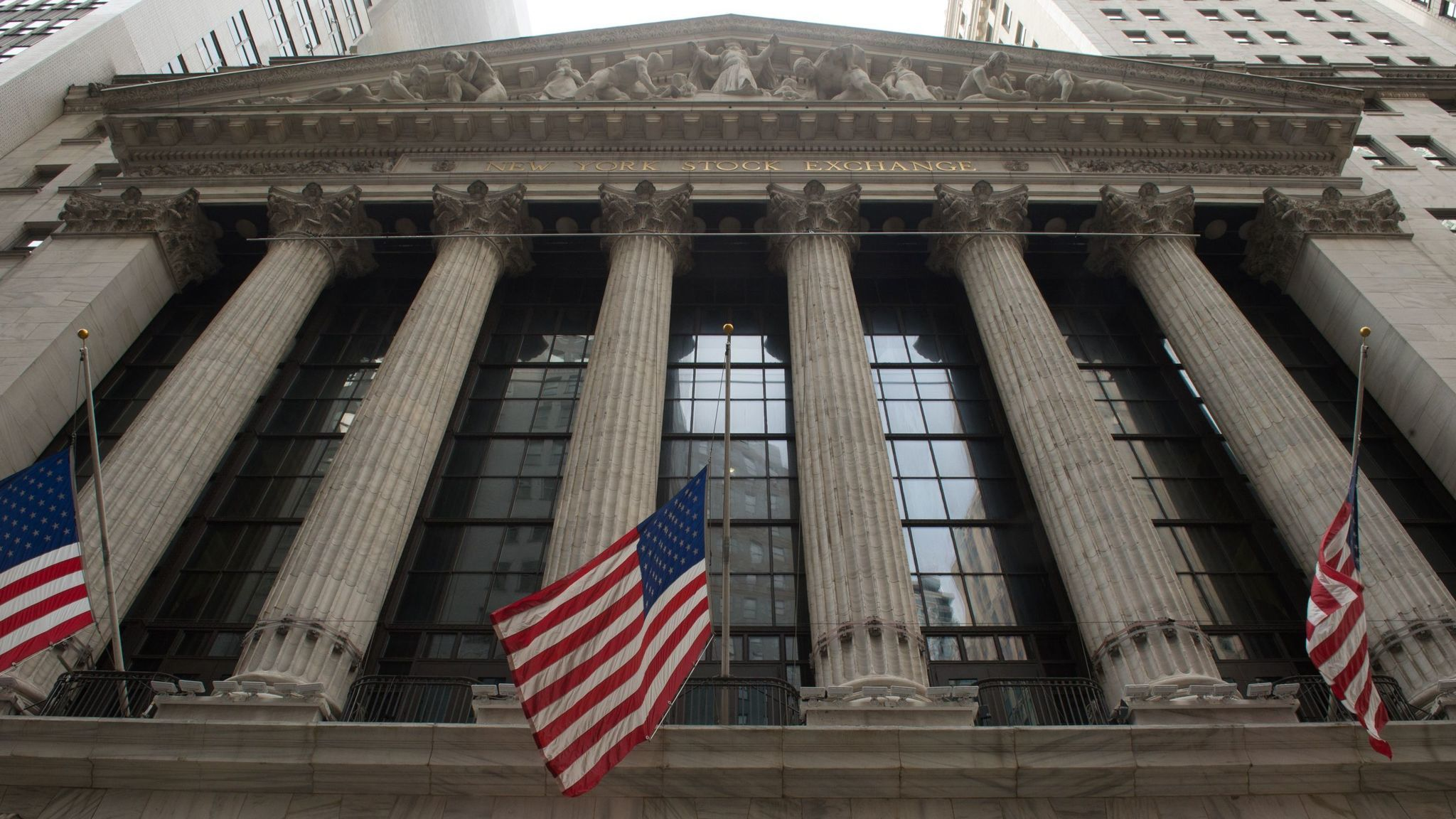 The New Stock Exchange in New York.