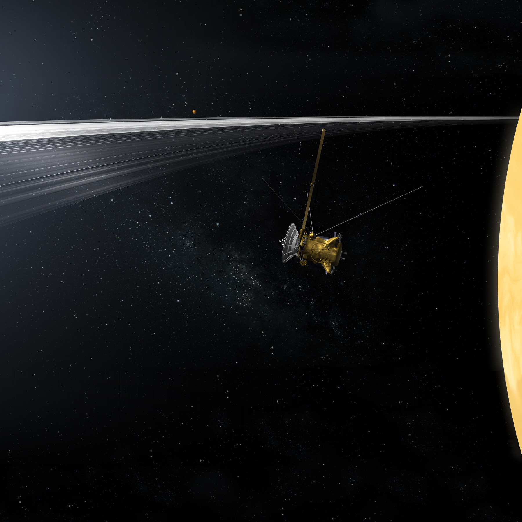 After 13 years at Saturn, NASA's Cassini spacecraft is ...
