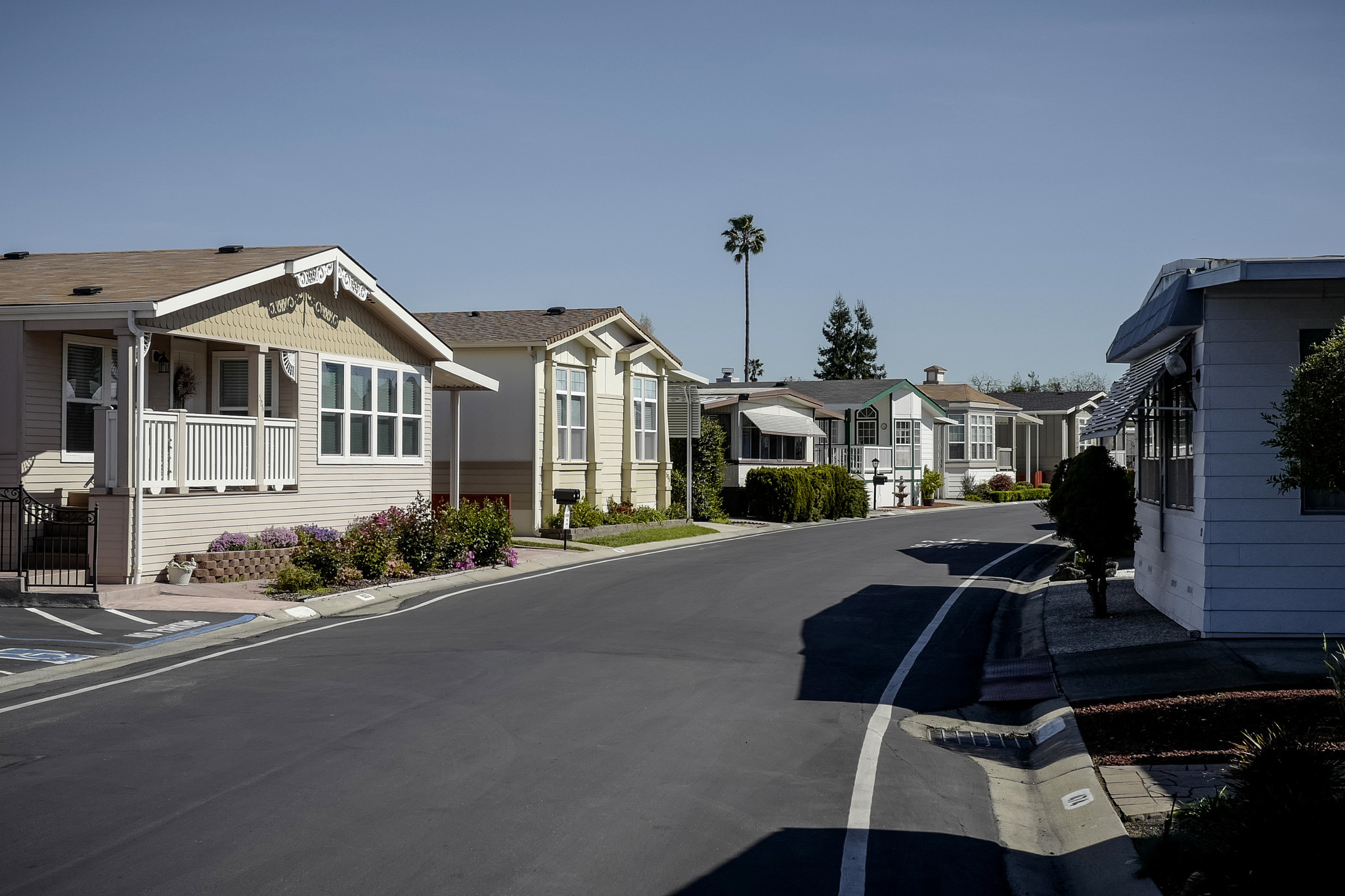 Despite the name, mobile homes can't be easily moved. Many of Plaza del Rey's homes have spacious living rooms, multiple bedrooms and bathrooms, porches, gardens and garages.