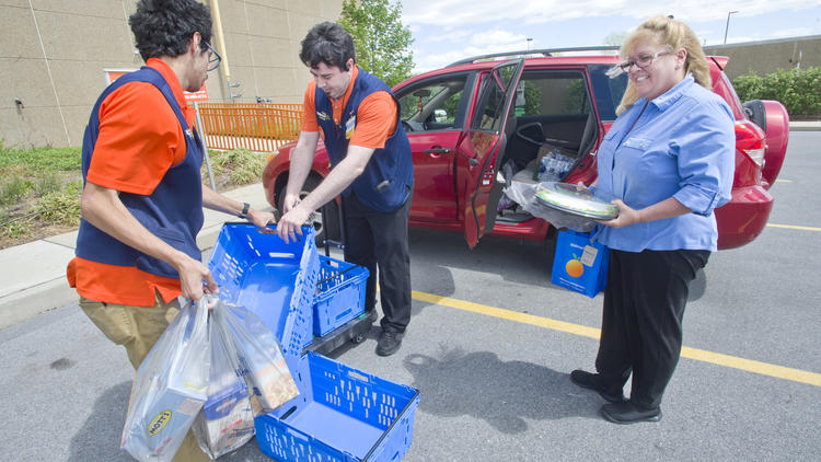 PICTURES: Walmart launches online grocery pickup at the Whitehall Supercenter